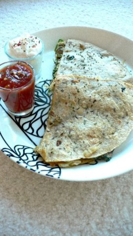 Easy Mushroom Chicken Quesadilla