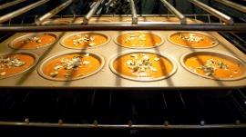 pumpkin muffins baking