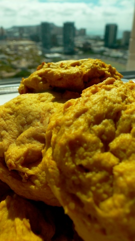 Yam biscuit close up with view